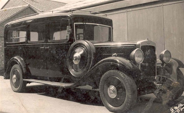 Photo:Hearse used by the company from 1945