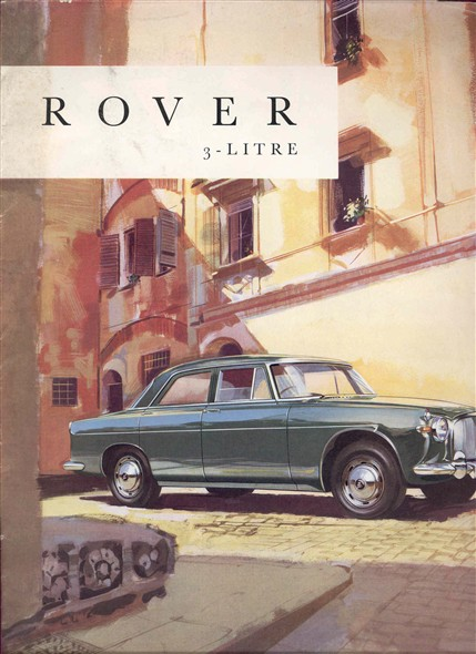 Photo:Brochure advertising the Rover 3 - Litre