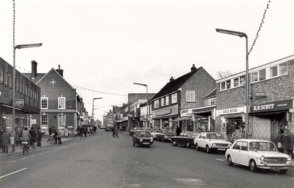 Photo:Shops on Gorleston High Street, 1977