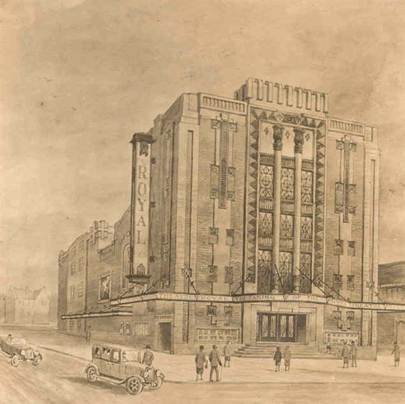Photo:Proposed new Theatre Royal drawing, 1929