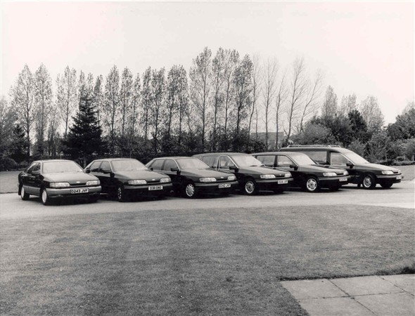 Photo:Hearses at Gorleston Crematorium, 1986