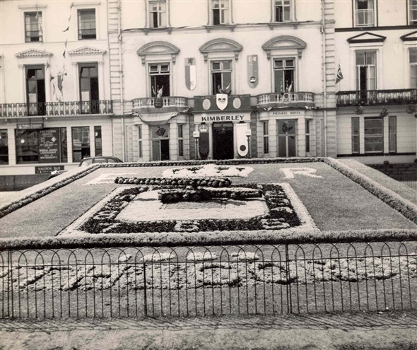 Photo:Photograph of the Floral Clock, 1956