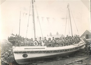 Photo:The Elizabeth Simpson Volunteer Lifeboat, prob 1889