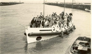 Photo:The Elizabeth Simpson as excursion boat, prob 1936