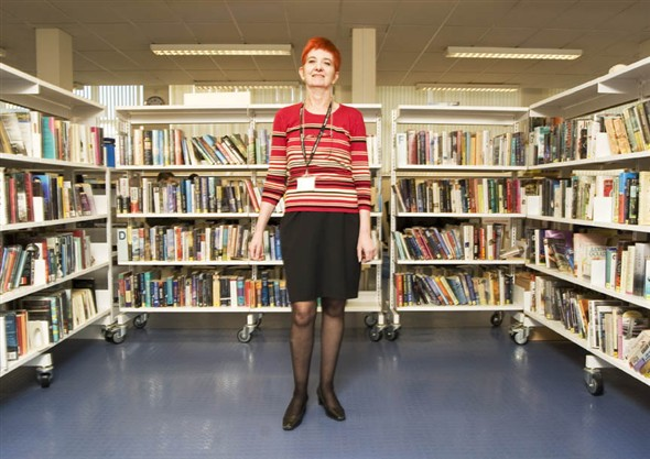 Photo:Portrait of Barbara Beldon, Library Manager in Great Yarmouth Library