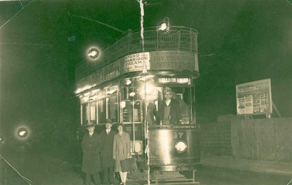 Photo:The last tram to Gorleston, 1932