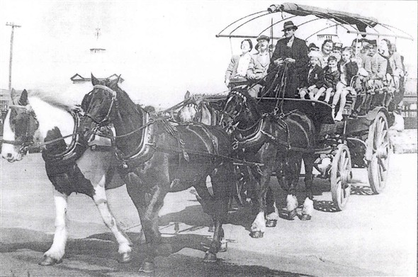 Photo:Photograph of a Breech Carriage with Donna's Great Uncle at the reins