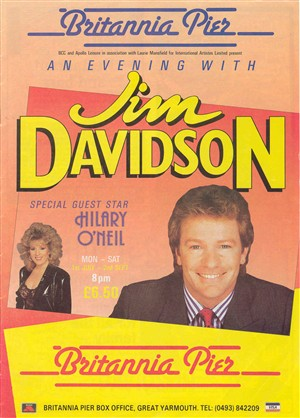 Photo:Britannia Pier Theatre Programme - An evening with Jim Davidson, c. 1980s?