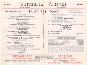 Photo:Britannia Pier theatre programme contents - 'Paint the Town', date unknown?