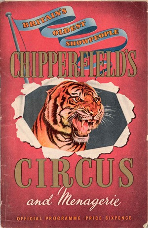 Photo:Chipperfield's Circus programme, date unknown