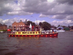 Photo:The Southern Belle on an evening cruise from Oulton Broad, 2007