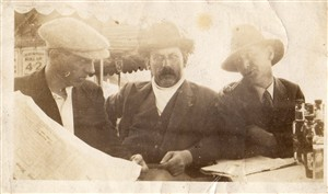 Photo:Edgar Samuel Balls (centre)