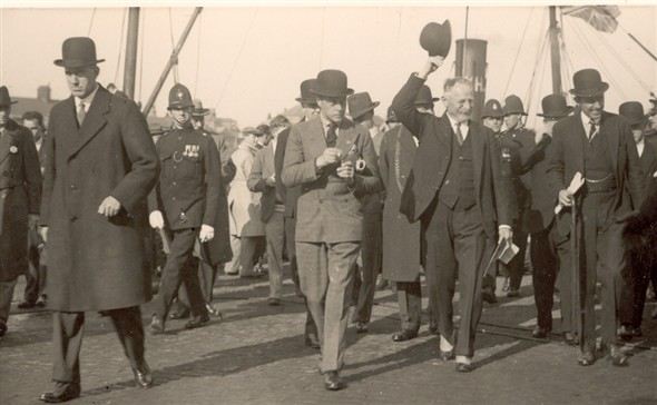 Photo:Edward VIII visit to Great Yarmouth - 1930s