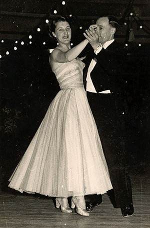 Photo:A couple dancing at the Floral Hall in Gorleston in the 1950s