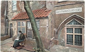 Photo:Postcard of Greyfriars Cloisters