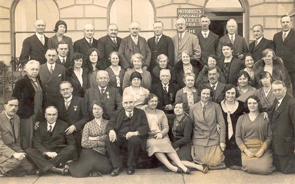 Photo:Postcard showing the Harry Coward Party at the NUT Conference, 1931