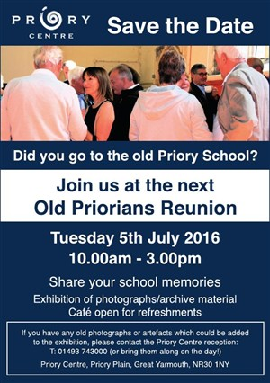 Photo: Illustrative image for the 'Priory School Reunion' page