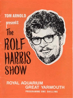 Photo:Royal Aquarium theatre programme - Rolf Harris Show, 1967