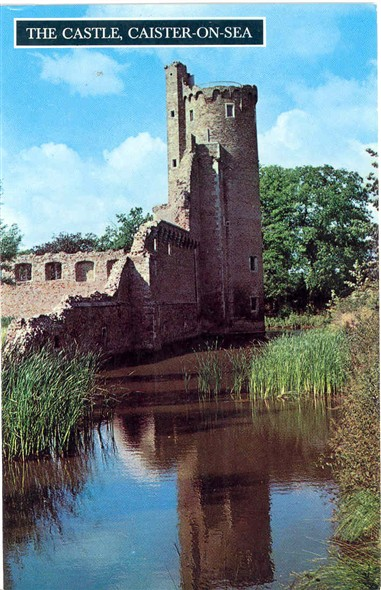 Photo:Colour postcard showing Caister Castle