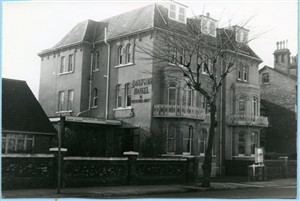 Photo:Photo of Dolphin Hotel, taken 1971