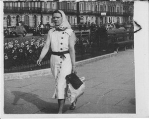Photo:Photo 5 - Dorothy Harrison walking down Marine Parade Yarmouth