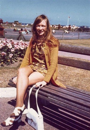 Photo:Kathleen Dewhurst (as she was then) on Great Yarmouth sea front in 1971