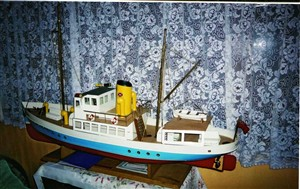 Photo:Model of the Norwich Belle made by Mike Alsop