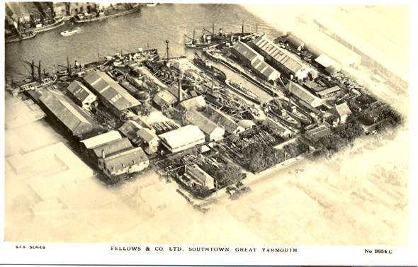 Photo:An aerial view of Fellows Shipyard and Dry dock c. 1910