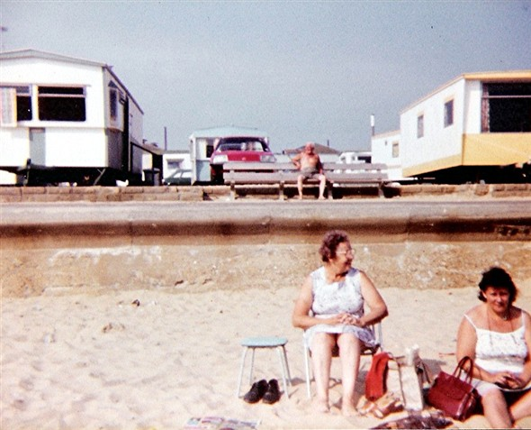 Photo:My Nan and My Mum on South Denes Beach (that's my Grandad in the backgroud sunning his kneecaps) - 1983