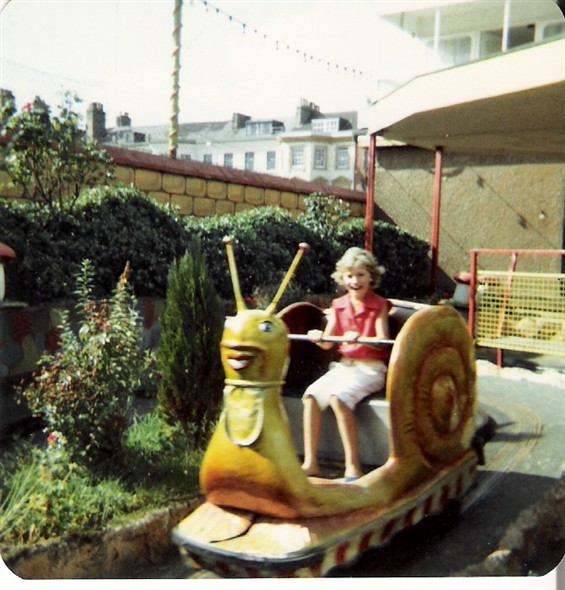 Photo:The snails at Joyland - I was about 9 in this photo (1981)