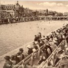 Photo:Postcard showing the open air swimming pool