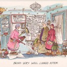 Photo:Seaside humour postcard reading 'Being very well looked after'