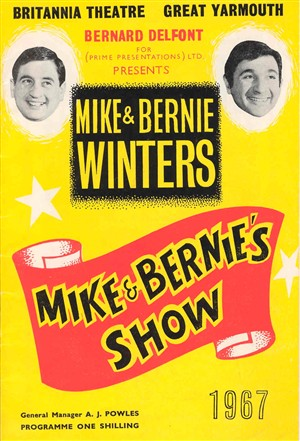Photo:Programme for the Mike & Bernie Winters Show at the Britannia Theatre in 1967