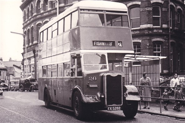 Photo:No 20 - (EX 5282) - Wartime Guy Arab II approaching the Regal bus stand